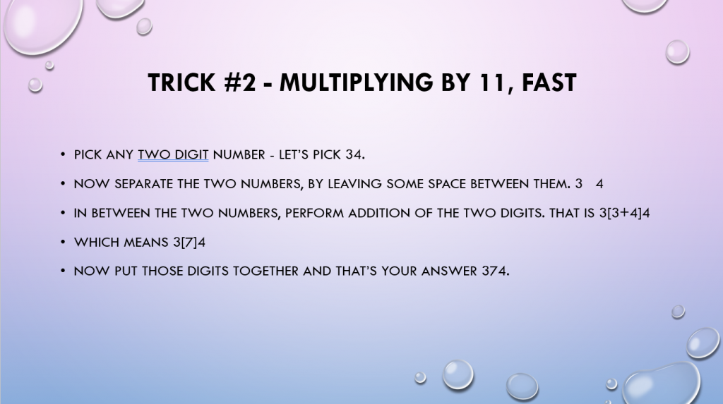 Multiplying by 11 fast
