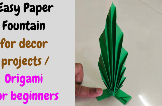 Easy-Paper-Fountain-for-decor-projects-Origami-for-beginners