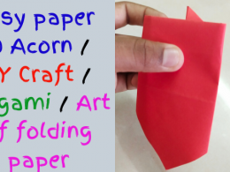 Easy paper 2D Acorn / DIY Craft / Origami / Art of folding paper