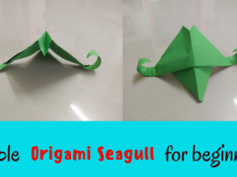 Simple Origami Seagull for beginners / Step by step