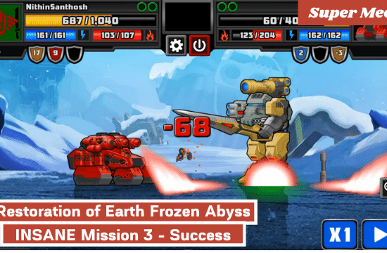 Super-Mechs-Restoration-of-Earth-Frozen-Abyss-INSANE-Mission-3