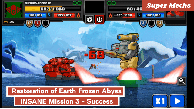 Super Mechs: Restoration of Earth Frozen Abyss INSANE Mission 3 - Success