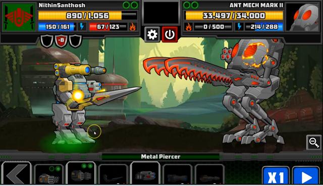 Super Mechs Losing it to the Ant Mech Titan Mark II Heat