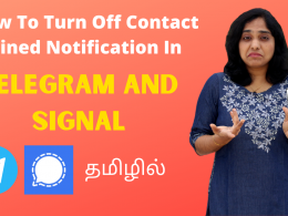 How To Turn Off Contact Joined (New Member Joined) Notification In Telegram And Signal Apps?