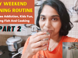 My Weekend Morning Routine | My Coffee Addiction | Kids Fun | Feeding Fish And Cooking - Part 2