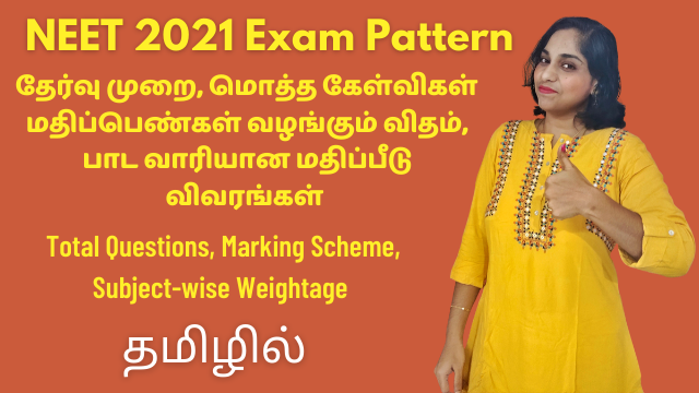 NEET 2021 Exam Pattern, Syllabus | Total Questions, Marking Scheme, Subject-wise Weightage