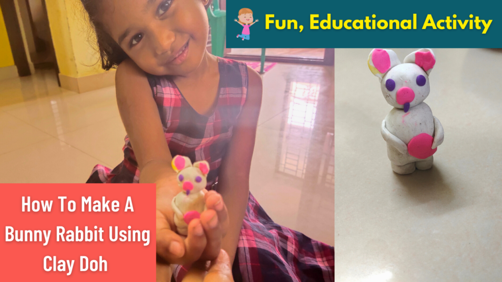 How To Make A Bunny Rabbit Using Clay Doh   Fun, Educational Activity   Raw Demo Play Doh Animals