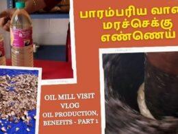 Cold Pressed Oil Preparation Demo | Oil Mill Visit Vlog | Oil Production, Benefits - Part 1